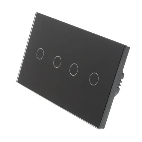 wifi light switch dimmer black glass panel led on touch light switches