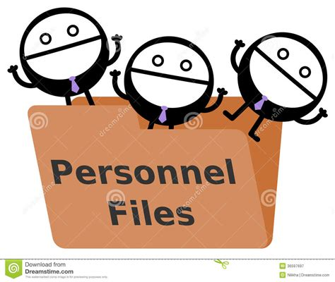 Personnel Files Royalty Free Stock Photography   Image