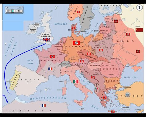 map of ww2 my
