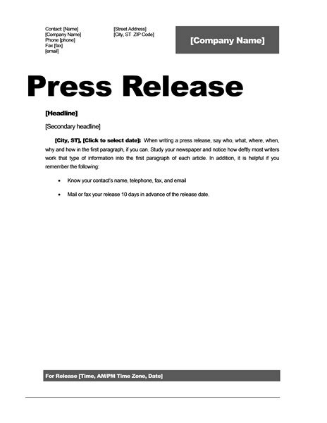 professional press release template press release template tryprodermagenix org