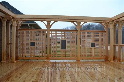 Cedar Decks With Custom Privacy Screens And Pergolas Pergola Privacy Screens