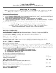 Resume Sle Of Radiologic Technologist Click Here To This Radiologic Technologist Resume Template Http Www