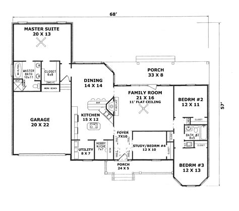 cheerful ranch house plan 22070sl 1st floor master suite cad available corner lot pdf ravelle place ranch home plan 069d 0058 house plans and more
