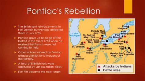pontiacs rebellion pontiac s rebellion and proclamation of 1763