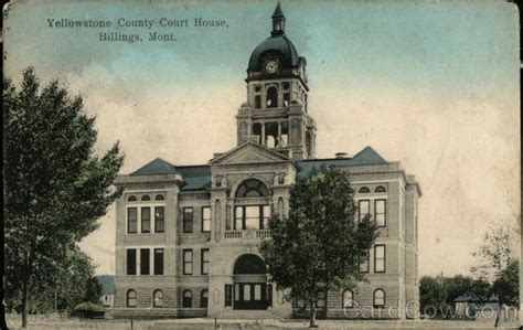Yellowstone County Court Search Yellowstone County Court House Billings Mt Postcard