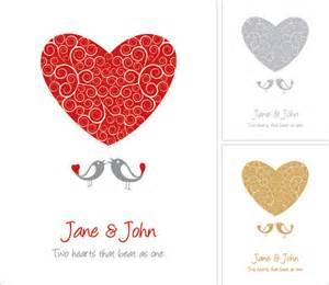 wedding card vector graphic invitation birds
