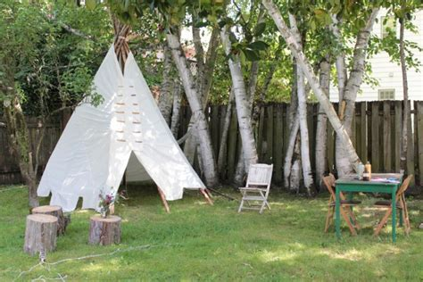 backyard tipi diy backyard tipi part ii and behind the scenes video