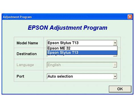 epson t13 resetter adjustment program epson t13 me32 service adjustment program service