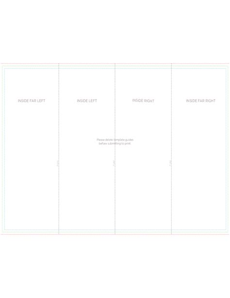 4 panel brochure roll fold template free download