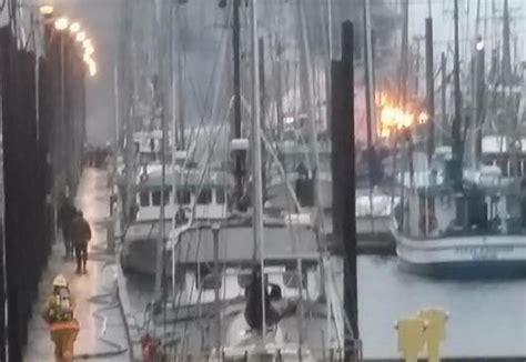 fishing boat explosion craig alaska three fishing vessels burn at alaska marina national