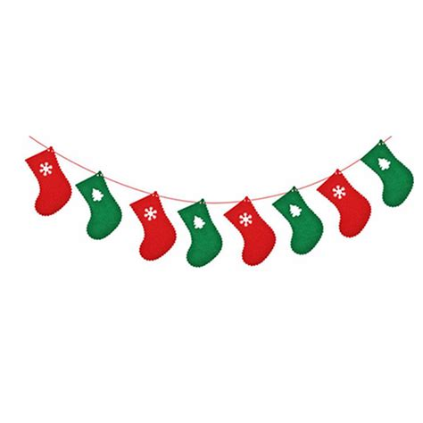 christmas bunting banner party xmas wall tree hanging