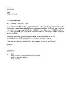Termination Letter Sample Layoff Layoff Notice Bing Images