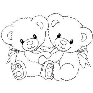teddy bear with heart coloring pages coloring pages kids