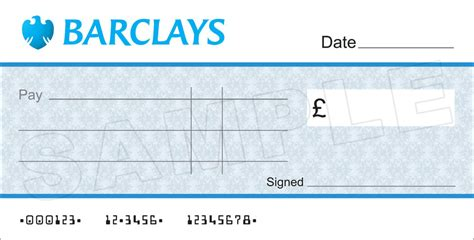 Large Blank Barclays Bank Cheque For Charity Presentation Ebay Large Cheques For Presentation