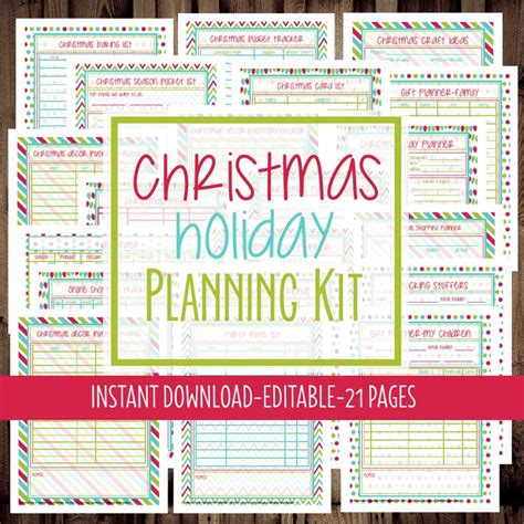 printable holiday planner 183 best christmas planner printables images on pinterest