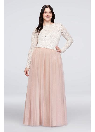 Dotted Lace Top And Tulle Skirt Plus Set Davids Bridal