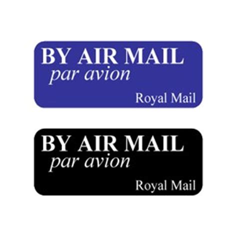 mail rubber sts by airmail logo