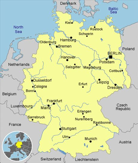 germany country map germany country profiles