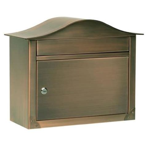 architectural mailboxes peninsula antique copper wall