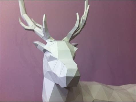 Papercraft Deer - dt workshop of a paper stag