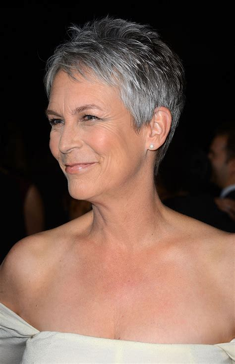 what hair colour was jamie lee curtis in her younger days jamie lee curtis gray hair memes