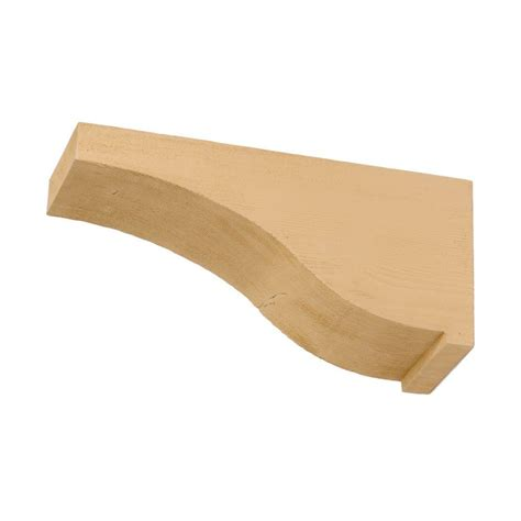 Corbels Home Depot Canada Waddell 7 In X 11 In X 5 4 In Unfinished Pine Corbel