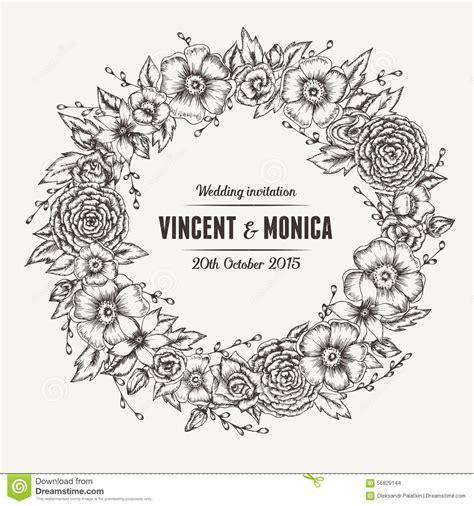 wedding flower vector vector vintage floral wedding invitation stock vector