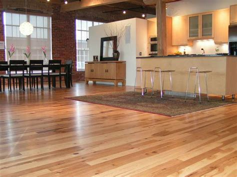 Hardwood Floor Decorating Ideas Bloombety Hickory Wood Floors With Brick Walls Hickory Wood Floors For Ordinary Home Design