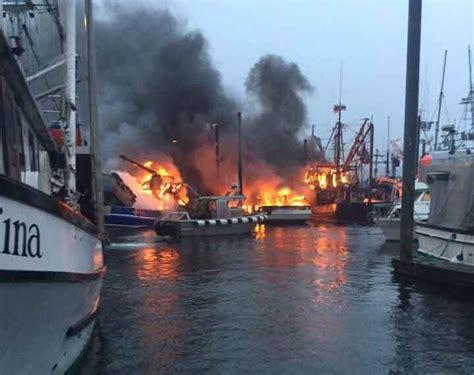 fishing boat explosion craig alaska three fishing boats burn in craig harbor alaska native news