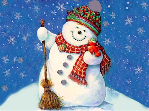 christmas snowman wallpaper 1600x1200 26328