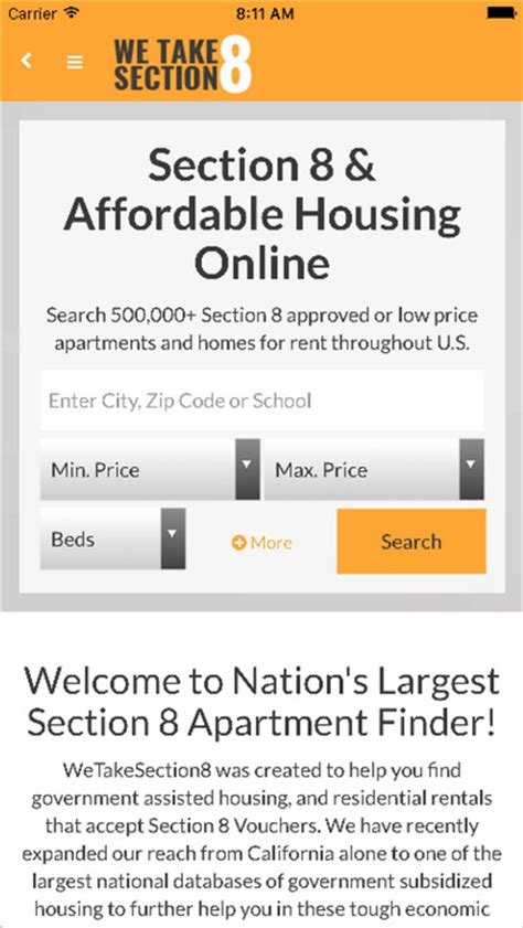 realtor that accept section 8 section 8 rentals app report on mobile action