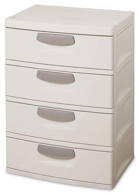 sterilite garage storage drawers sterilite 01748501 heavy duty 4 drawer cabinet unit garage