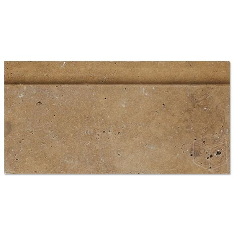 5x12 noce brown travertine honed baseboard molding