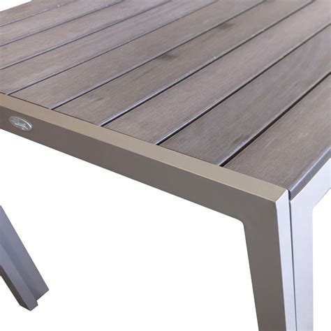 überdachung Aus Aluminium by Gartentisch Aluminium Polywood 205x90cm Chagner