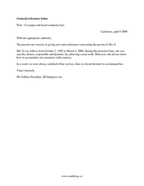 generic letter of recommendation template how do you write general letter images cv