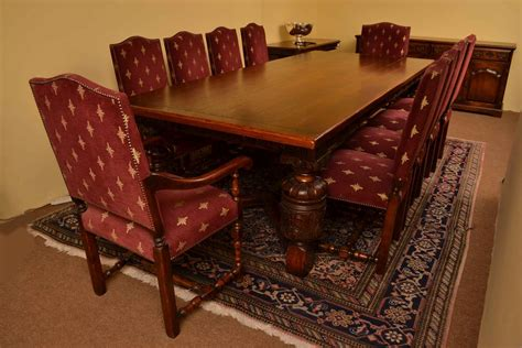 Harrods Dining Tables Harrods Oak Dining Room Suite Table 10chairs Sideboard