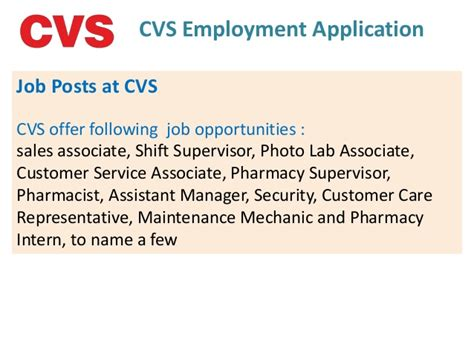 Cvs Pharmacy Apply by Cvs Employment Application