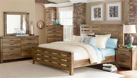 montana rustic buckskin panel bedroom set  standard furniture coleman furniture