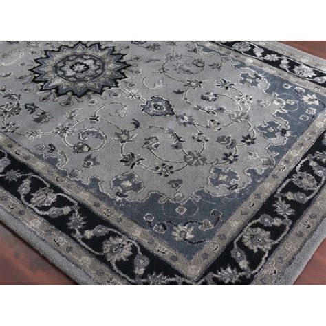amer rugs eternity tufted gray navy area rug