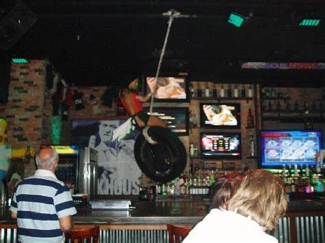swinging in las vegas barmaid swinging on tyre picture of rockhouse bar nightclub las vegas tripadvisor