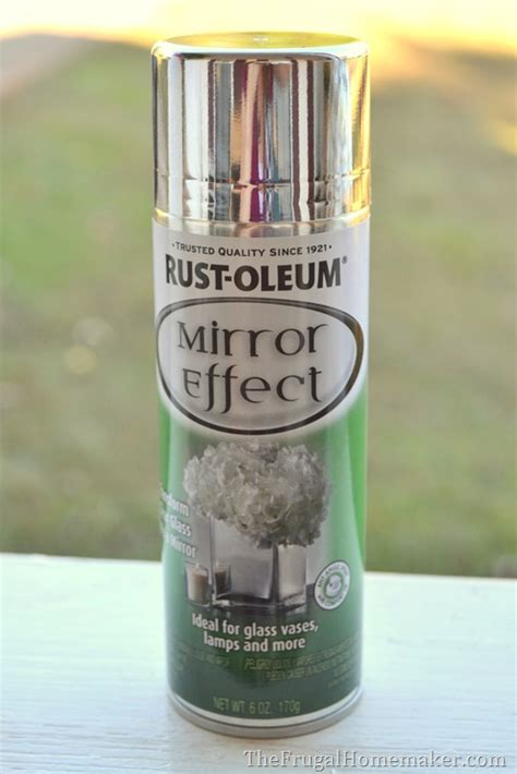 spray paint mirror diy mercury glass pumpkin how to turn any glass into