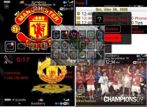 themes blackberry manchester united manchester united free theme for blackberry curve 8520