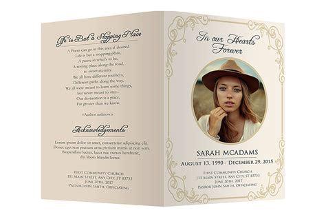 funeral program card template free funeral program template brochure templates creative