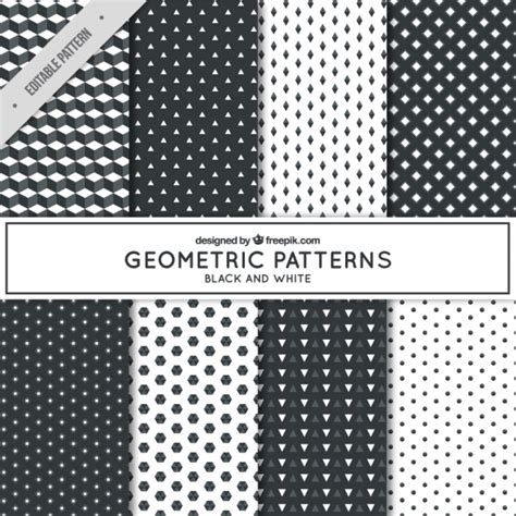 black and white geometric pattern vector free different geometric patterns in black and white vector