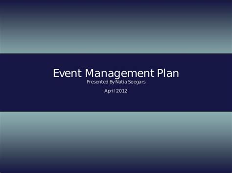 event management layout event management plan