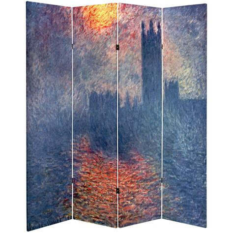 Canvas Room Divider 6 Ft Sided Works Of Monet Canvas Room Divider Impression Houses Of