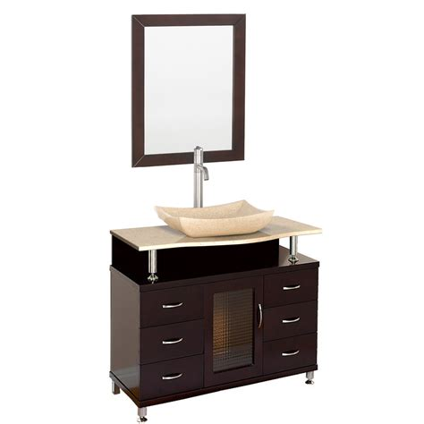 accara 36 quot bathroom vanity with drawers espresso w