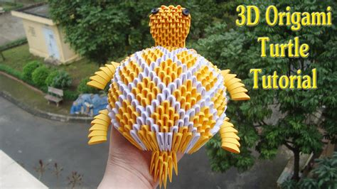 How To Make Origami 3d - how to make 3d origami turtle c 243 mo hacer 3d tortuga