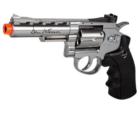 Airsoft Gun Revolver asg dan wesson 4 inch silver fps 440 co2 airsoft revolver