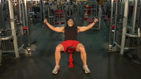 incline bench flyes how to do incline bench cable flys youtube